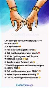 31 Best WhatsApp Dare Games To Play with Lovers & Friends 2